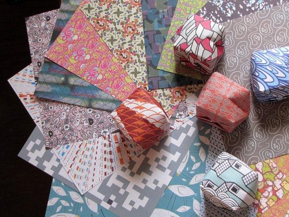 Origami Lanterns - Handmade Paper Lanterns - Set of 50 - Assorted Modern Design Patterns