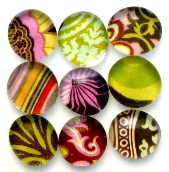 Marble Magnets in Amy Butler Prints - Simply Gorgeous