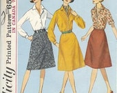 1960s Plus Size Skirt and Blouse Pattern Simplicity 5610