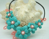 Garden of flowers necklace