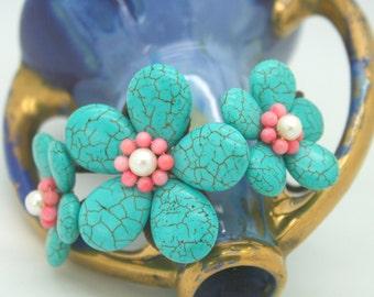 Three flowers bangle