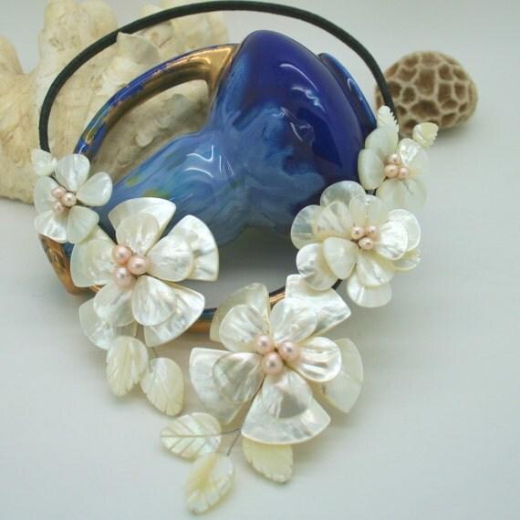 Garden of flowers necklace