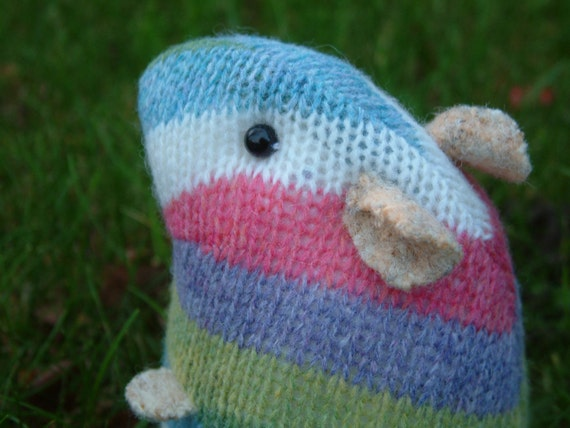 Knitting Pattern For Hamster Jumper : plush woolly hamster made from recycled jumper/sweater by raggyrat