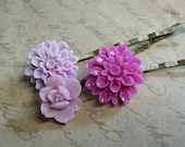 SUMMER SPECIAL Vintage Orchids............Pretty Flower Hair Pins