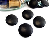 Size 40L Leather BUTTONS 1 inch, 28mm, #40 Ligne QTY: sets of (4)-(6)-(8)-(10)-(12) in Black, Dk. Brown or Gray Shank Sewing, Decor