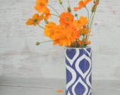 Mod cobalt blue vase as seen in Cottages and Bungalows  Jan 2012----made to order