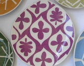 teardrop lunch plate. Vivid Violet
