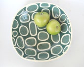 Squircle Serving Bowl  in aqua and teal tones-made to order