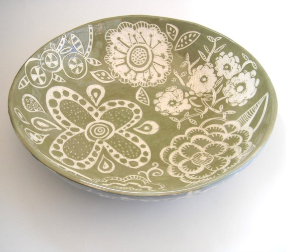 Large  Ceramic  Blossom Bowl