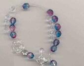 Rainbow  Knitters Bracelet Abacus