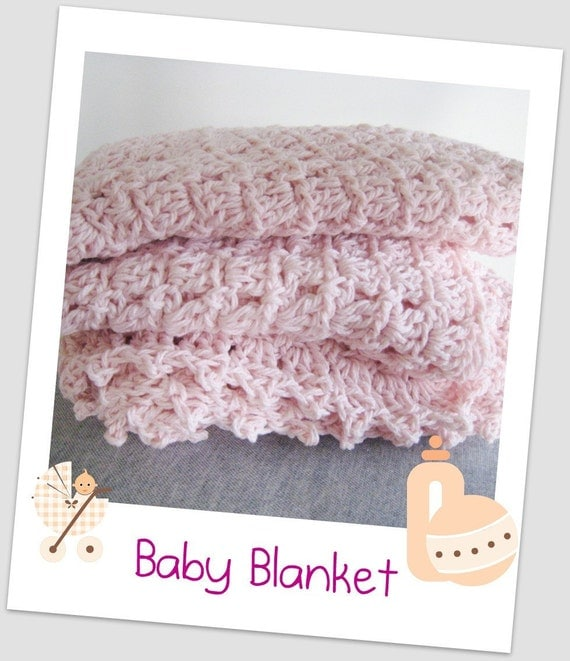 Cotton Candy Baby Blanket PDF Crochet Pattern by CottonCloths