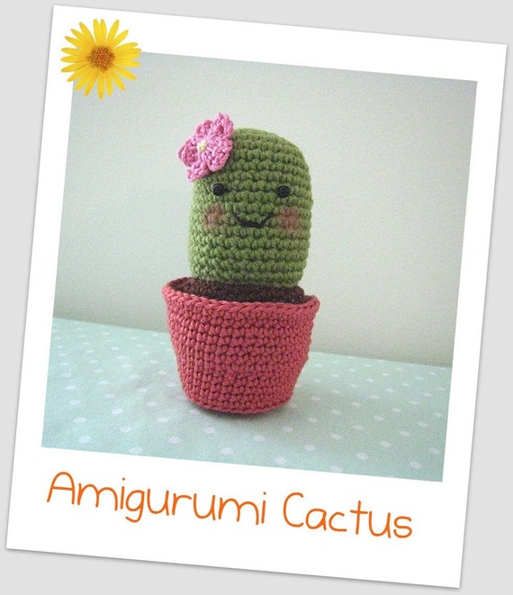 Etsy Amigurumi Cactus : Items similar to Amigurumi Cactus Crochet Pattern on Etsy