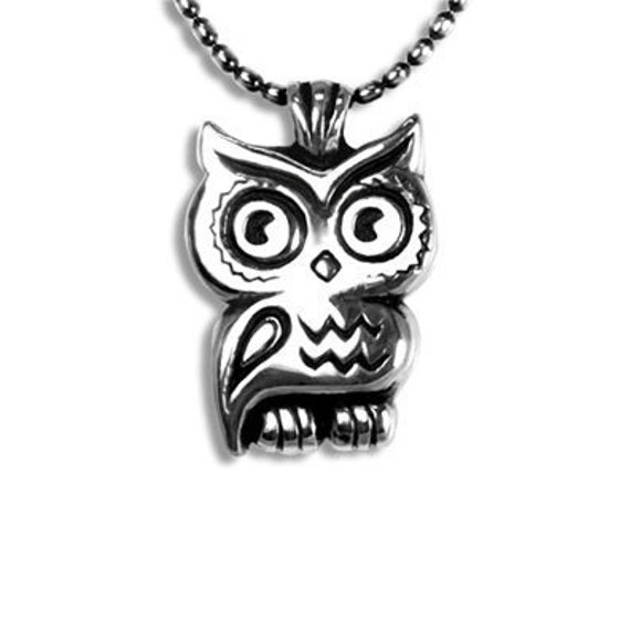 OWL Pendant necklace in sterling silver with chain