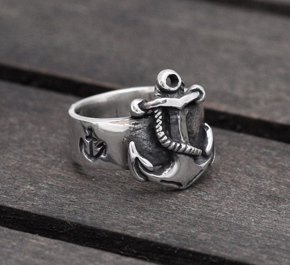 Anchor ring in Sterling Silver FIRST MATE