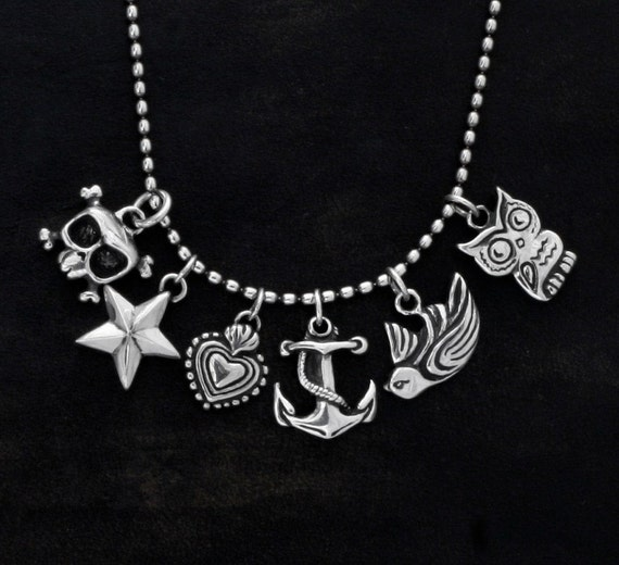 Lucky Charm LOUIE SKULL in sterling silver.
