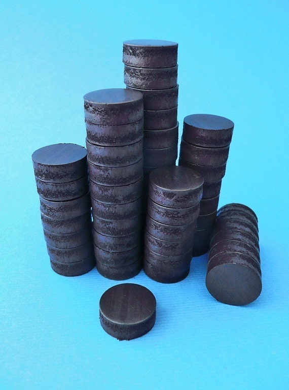 50 Small Round Magnets- 1\/2 inch Diameter 3\/16 inch Thick