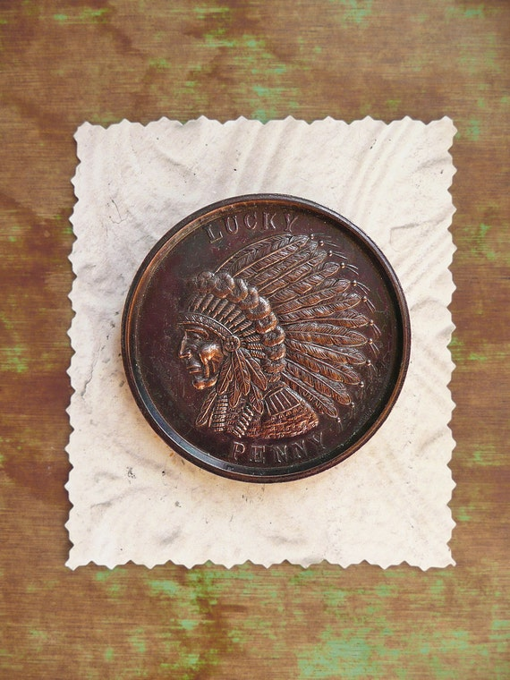 Vintage Large Lucky Penny- New Mexico souvenir