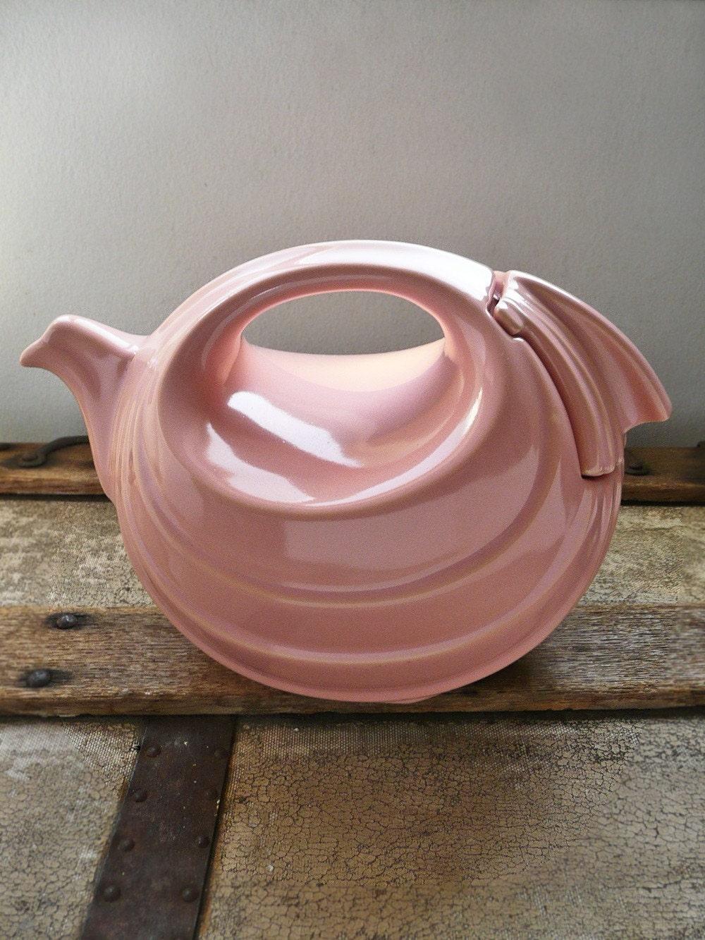 Vintage Hall Teapot Rhythm Design In Pink By Curiositycabinet