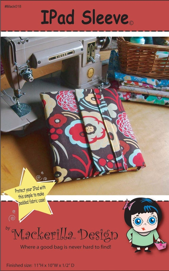 Ipad Sleeve Sewing Pattern PDF