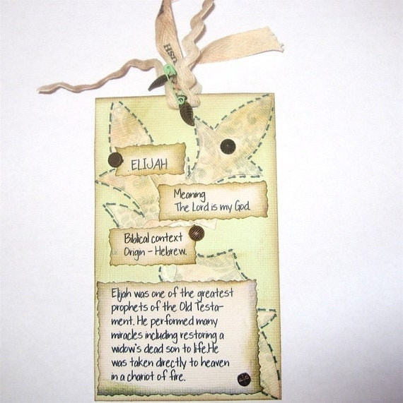 Biblical Name Tags With Origin and Meaning ELIJAH