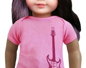 """matching guitarT-shirt for 18"""" doll"""