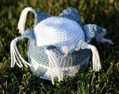 Instant Download Crochet Pattern for Little Blue Prince Hat Photo Prop PDF Royal Prince Fantasy