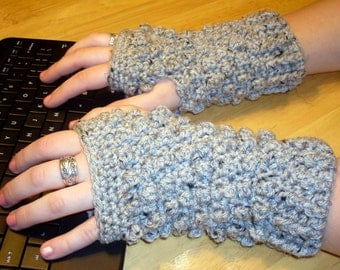 Pattern Directions for Making Short and Sassy Bobble Fingerless Gloves PDF Pattern Instant Download