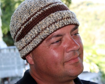 Crochet Pattern for a Man's Watchman Crochet Cap  - Instant Download Winter Hunting
