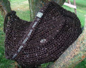 Pattern Directions for making a Hobo Bag PDF Crochet Pattern
