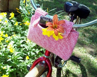 PDF Pattern for a Crochet Bicycle Basket