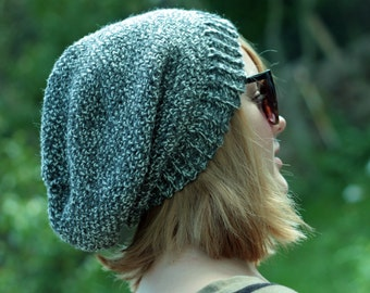 Slouchy Beanie Crochet Pattern Men Women like the Movie Stars- Instant Download