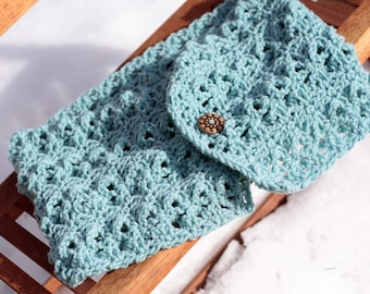 Pattern Directions for Making a Lacy Cowl Neck Warmer Crochet PDF Pattern Instant Download