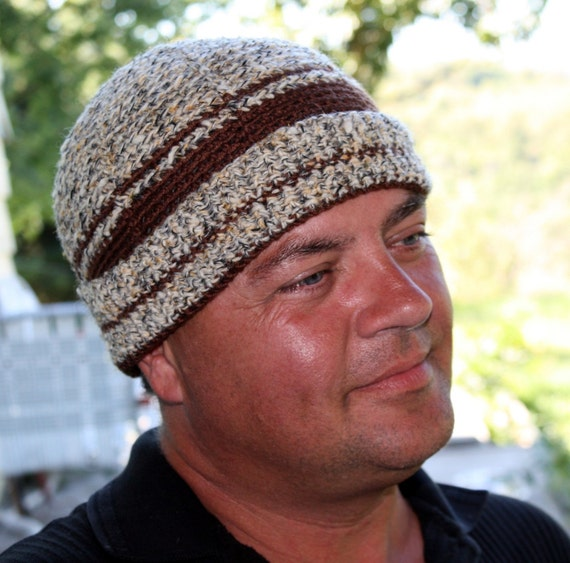 Crochet Pattern for a Man's Watchman Crochet Cap  - Instant Download Winter Hunting