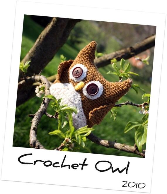 Instant Download CROCHET PATTERN Amigurumi Owl Crochet PDF Woodland Bird Forest Creature Toy Decoration