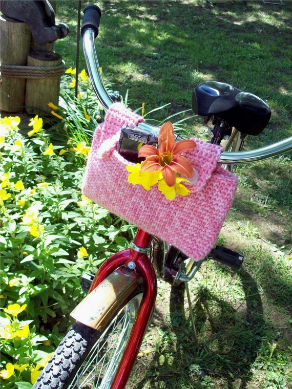 PDF Pattern for a Crochet Bicycle Basket