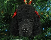 Black Poodle Ornament - Needle Felted Dog Christmas Ornament