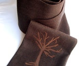 Luxe Dark Tree Scarf --- Vegan (Acrylic and Cotton)