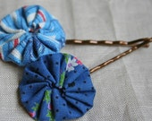 Stocking Stuffer Bobby Pin Hair Clip, Blue