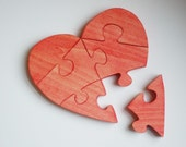 Wooden Heart puzzle toy