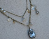 Dew Drops- A Necklace of Gathered Vintage Bits