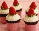 Strawberry Topped Cupcake