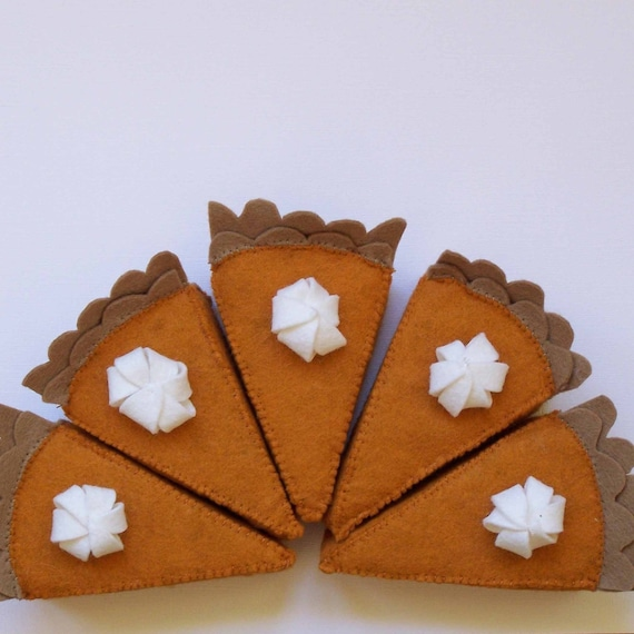 Pumpkin Pie Felt Food