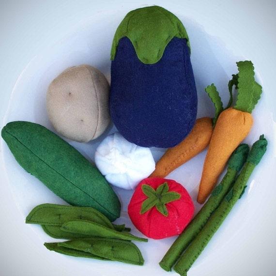 Felt Food - Vegetables