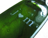 Personalized Recycled Wine Bottle Serving Tray