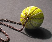 Beaded Bead Series - Gold with Copper Ball