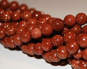 Brown Goldstone 6mm Round Beads 16IN Strand