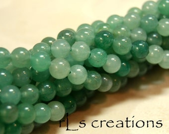 Aventurine Green 6mm Rounds 16in Strand
