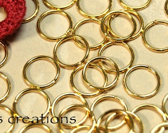 Jump Rings 10MM 18GA Gold Plated