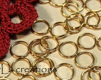 Jumprings 9MM 18GA Gold Plated - Combined Shipping