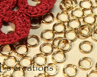 Jumprings 6MM 18GA Gold Plated